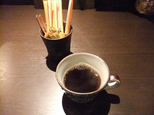 鴨亭@築地のコーヒー20120214.JPG