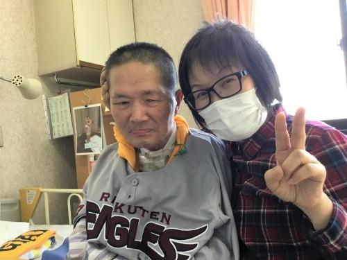 2019.3.20 病棟にて FANSユニフォーム.JPG