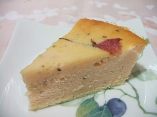 桜餡のチーズケーキ