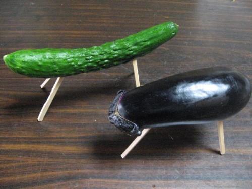 胡瓜と茄子
