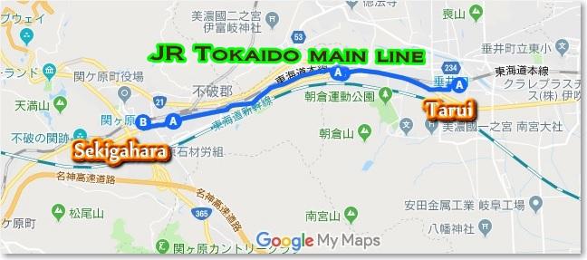 MAPto関ヶ原