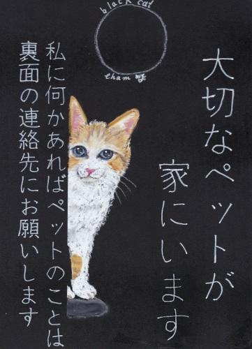 チョークアート20200210 緊急連絡猫ストラップ.jpg