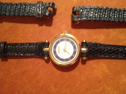 save off c6d53 45391 オールドグッチ青 の 自分で時計ベルト交換_その2 | お ...