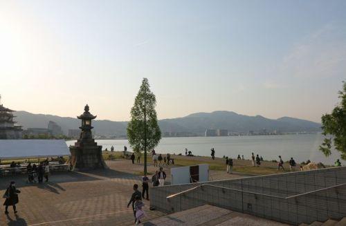夕日の比叡山bl.jpg