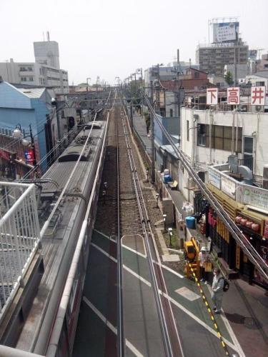 東京風景,下高井戸駅,京王線,世田谷線